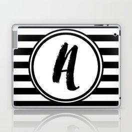 A Striped Monogram Laptop & iPad Skin