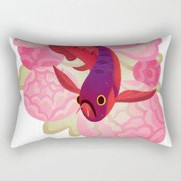 Arowana and peony 2 Rectangular Pillow