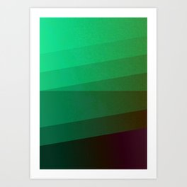 Blind Green Art Print