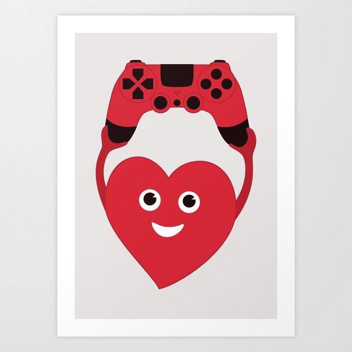 Gaming Heart Art Print