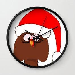 Turkey Father Christmas Wall Clock