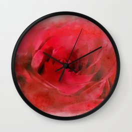 Country Rose Wall Clock