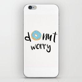 Donut Worry Blue iPhone Skin
