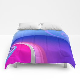 Ride the Wave (purple) Comforters