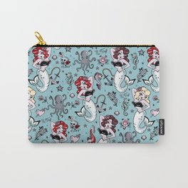 Molly Mermaid vintage pinup inspired nautical tattoo Carry-All Pouch