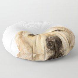 Golden retriever Dog illustration original painting print Floor Pillow