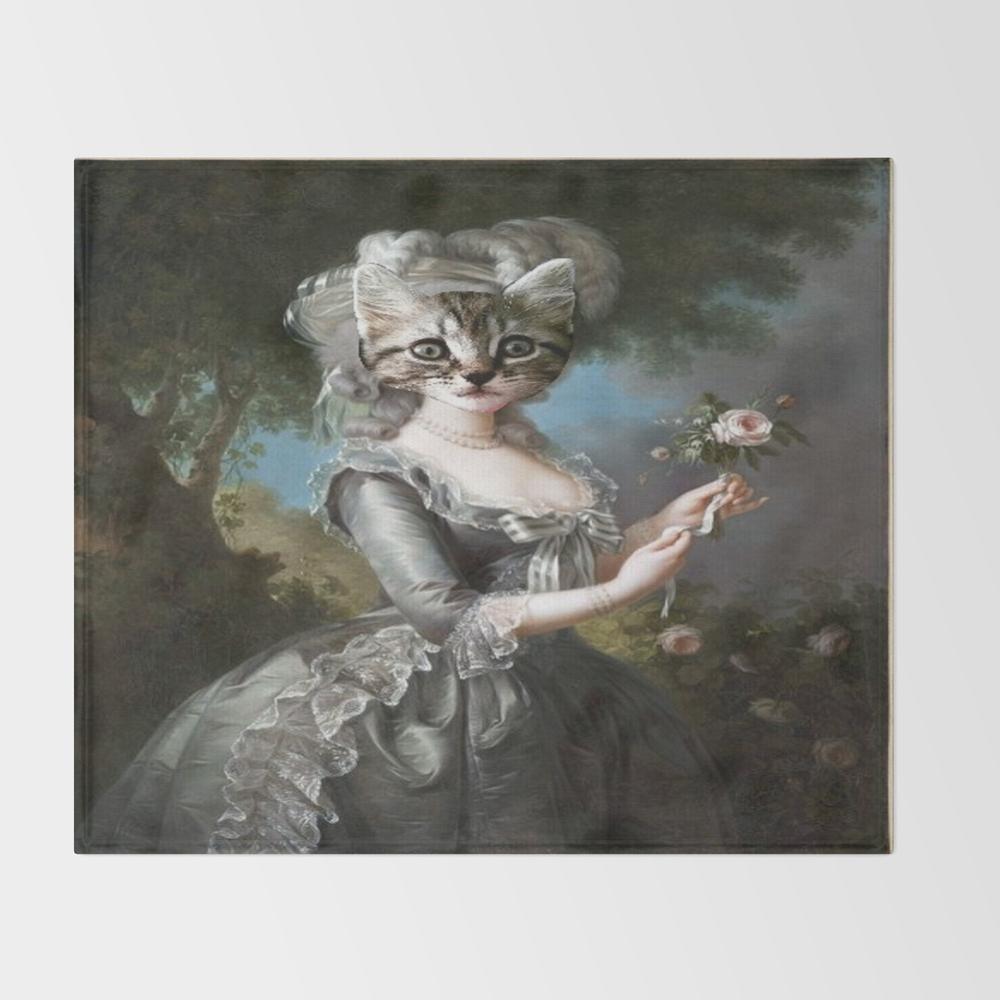 Pretty Kitty Throw Blanket BLK8108268