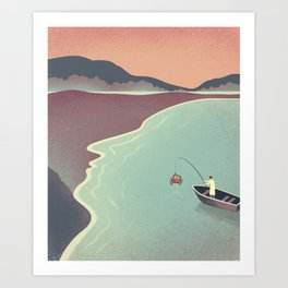 Fishing Face Art Print