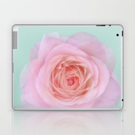 rose by another name: pink ghost on eau de nil Laptop & iPad Skin