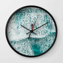 Girl Surfing Wall Clock
