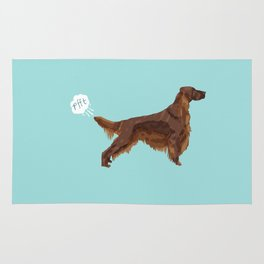 Irish Setter farting dog cute funny dog gifts pure breed dogs Rug