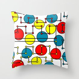 colorful dots and circles Throw Pillow