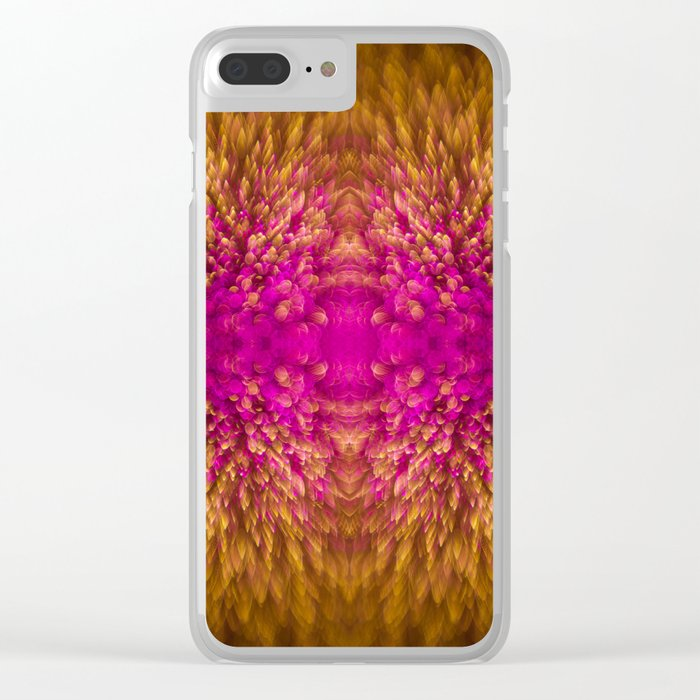 Golden Iridescence Shimmer Clear iPhone Case