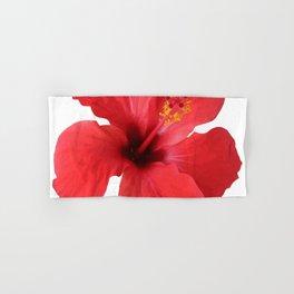 Scarlet Hibiscus Tropical Flower Vector Hand & Bath Towel