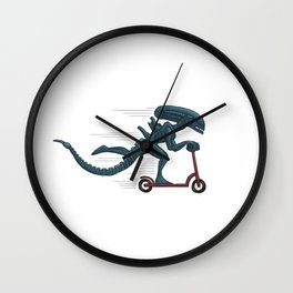 In Space, No One can Hear you Scoot Wall Clock