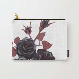 Black roses - Vintage rose print Carry-All Pouch