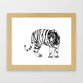 mr. tiger Framed Art Print