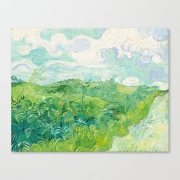 Green Wheat Fields - Auvers, by Vincent van Gogh Canvas Print
