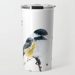 Christmas Chickadee by Teresa Thompson Travel Mug