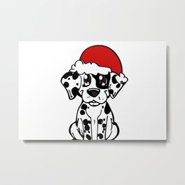 Christmas Dalmatian Drawing by Diseños que Ladran by NilseMariely Metal Print