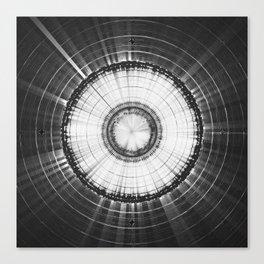 Collage 2 of Earth, Sputnik-1 & Sun Canvas Print