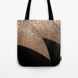 Rusted Disker Plow Light and Shadow Abstract Tote Bag