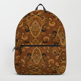Golden Glow Paisely Backpack