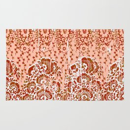 paisley floral in earth Rug