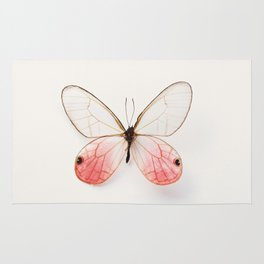 Pink Glasswing Rug