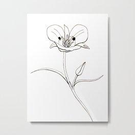 Mariposa Lily Metal Print
