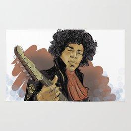 Jimi Hendrix - the legend Rug