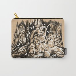 Scared gnome in a dark forest Carry-All Pouch