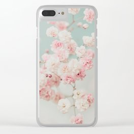 Gypsophila pink blush ll Clear iPhone Case