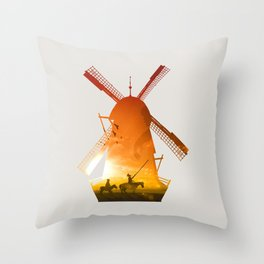 Fighting Giants (light version) Throw Pillow