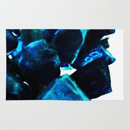 Chihuly Blue Crystal Sculpture Rug