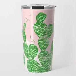 Linocut Cacti Family Travel Mug