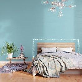 Blue Lagoon - solid color Wallpaper