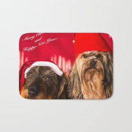 Merry Christmas and Happy New Year! Bath Mat