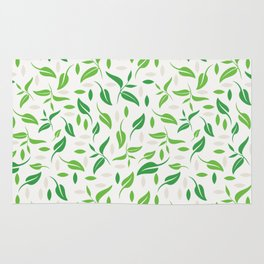Tea leaves pattern Abstract Rug