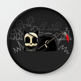 Grim Reapets - A Cat Named Coffin - Bloody Halloween Variant Wall Clock