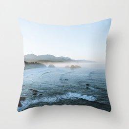 Cannon Beach Sunrise Throw Pillow