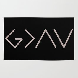 God Is Greater Than Your Ups And Downs Rug
