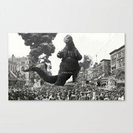 New Orleans Godzilla Attack 1908 Canvas Print