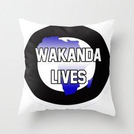 Wakanda Lives Throw Pillow