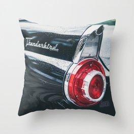 Darkest Thunderbird Throw Pillow
