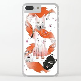 Red Kitsune Clear iPhone Case