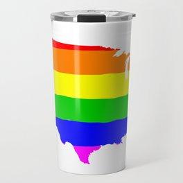 United States Gay Pride Flag Travel Mug