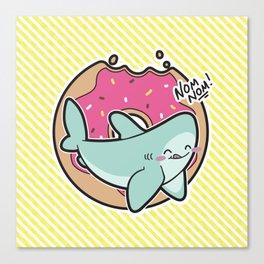 Nom Nom Donuts Canvas Print