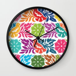 Chiapas Embroidery Wall Clock