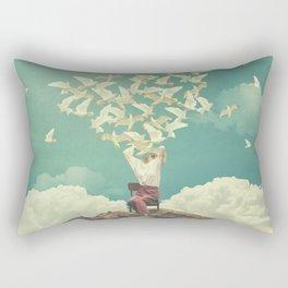 Pigeon Composer Rectangular Pillow